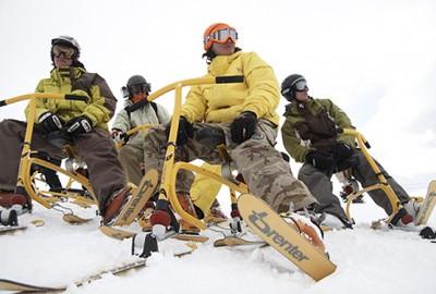 Обучение и прокат сноубайков, горнолыжный курорт Буковель