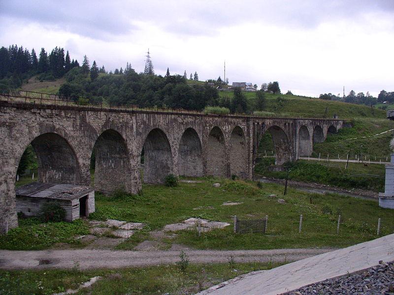 Железно-дорожный мост в Ворохте, Карпаты